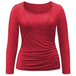 Curare Yoga Curves Collection Wrap-Shirt cherry