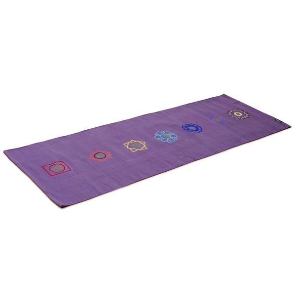Yogishop Yogateppich cotton rug chakra violet