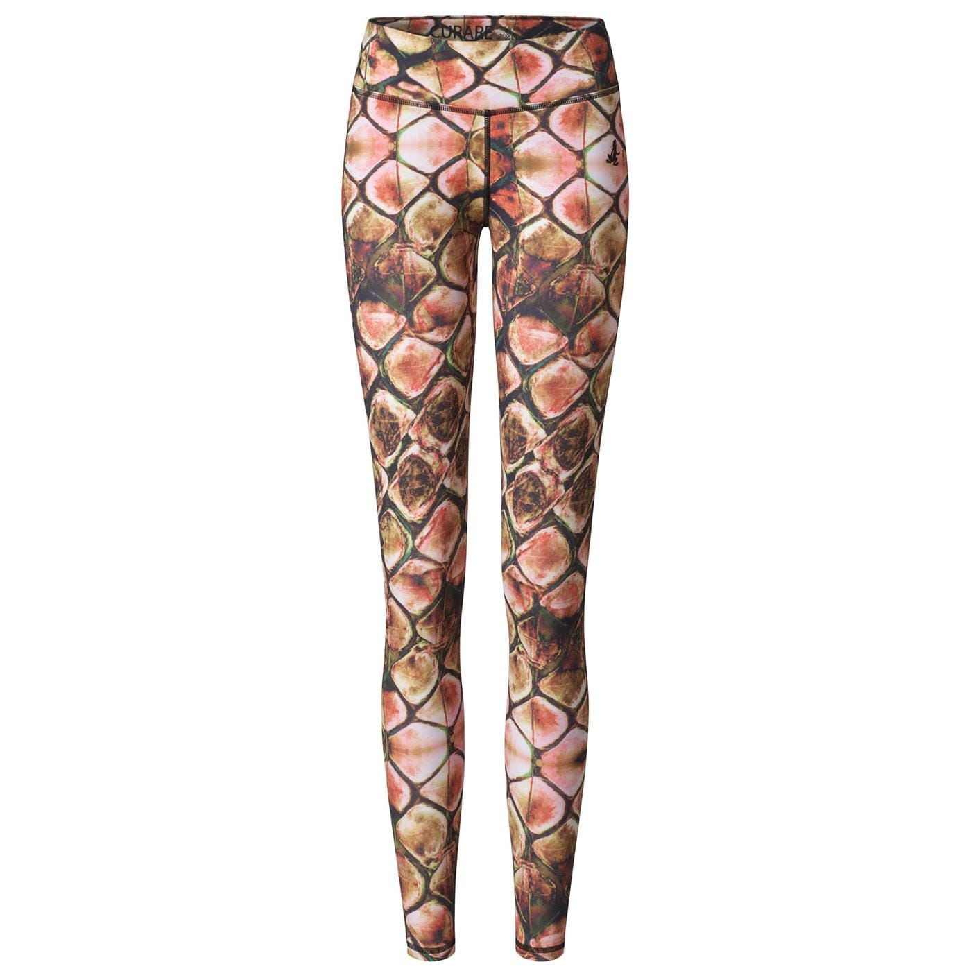 Curare Leggings straight multicolor print