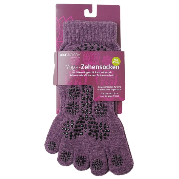 yogistar Yoga Zehensocken elderberry