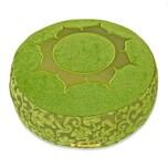 Yogishop Meditationskissen Shakti rund Lotus grün