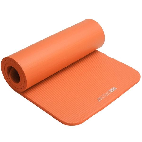 yogistar Fitnessmatte Gym 15mm orange