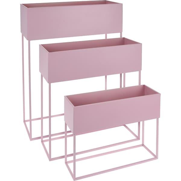 3er-Set Stand-Blumenkasten 50 x 20 x 64 cm 46 x 17 x 48 cm 42 x 14 x 32 cm