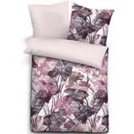 Biberna Baumwoll-Satin Bettwäsche mit Reißverschluss