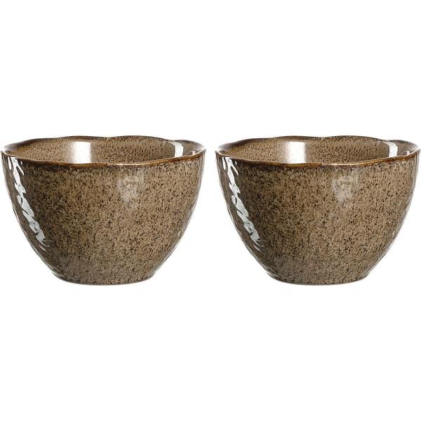 "LEONARDO 2er-Set Keramik Schalen ""Matera"" Ø15 cm"