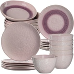 LEONARDO 24-tlg. Keramik Set MATERA rosa