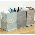 Kikkerland 3er-Set Recycling Station