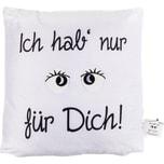 """Deko-Kissen """"Ich hab nur Augen für Dich"""" ca. 40 x 40 cm gefüllt"""