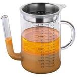 Küchenprofi Glas Fett-Trenn-Kanne 1l mit Edelstahl-Sieb