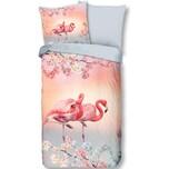 """good morning BEDLINENS Wende-Bettwäsche """"Flamingo"""" 135x200 cm"""
