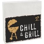 Contento Serviettenhalter Easy Chill Grill inkl. 50 Servietten