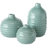 BOLTZE 3-tlg. Set Vase Meruna aus Porzellan