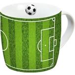 Porzellan Tasse Fußball Spielfeld 300ml