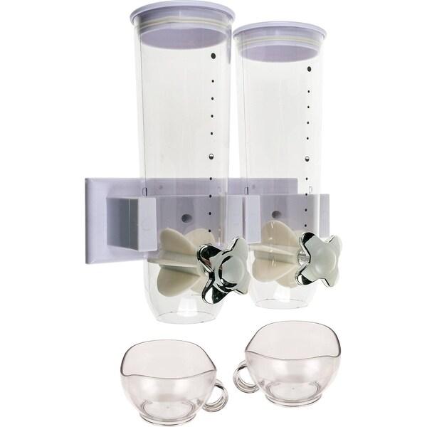 Doppel-Cerealienspender mit Wandhalterung für ca. 3 Liter inkl. 2 Tassen