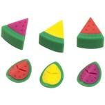 6er-Set Glasmarkierer Melone