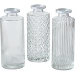 BOLTZE 6-tlg. Set Glas-Vase Adore H13xØ5cm
