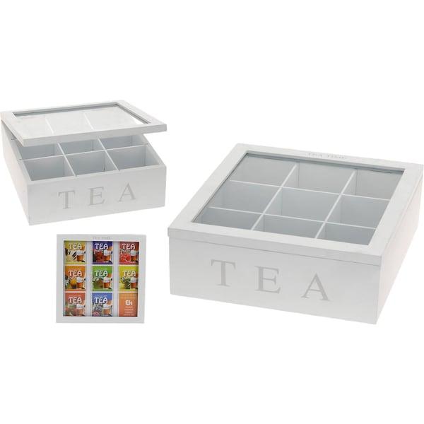 Teebox Tea Time L23 X B23 X H9 cm