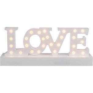 Leuchtobjekt Love warmweiß 27 LEDs H12 x B30 cm batteriebetriebene