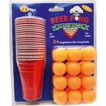48-Tlg. Partyspiel Set Beer Pong Mit 24 Becher Und 24 Bällen