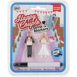 3-Tlg. Glasmarkierer Set Brautpaar Mit Stift