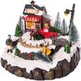 Hotex Spieluhr Dorf mit Beleuchtung und Musik20 x 19 x 15,5 cm