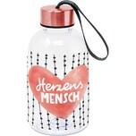 Ppd Kunststoff-Trinkflasche Herzensmensch 550ml