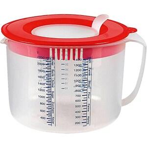 Dr. Oetker Maß- Rührbecher mit 2 Deckeln 2,2l