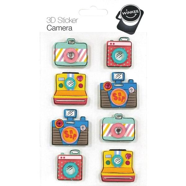 8-tlg. 3D Sticker Set Kamera