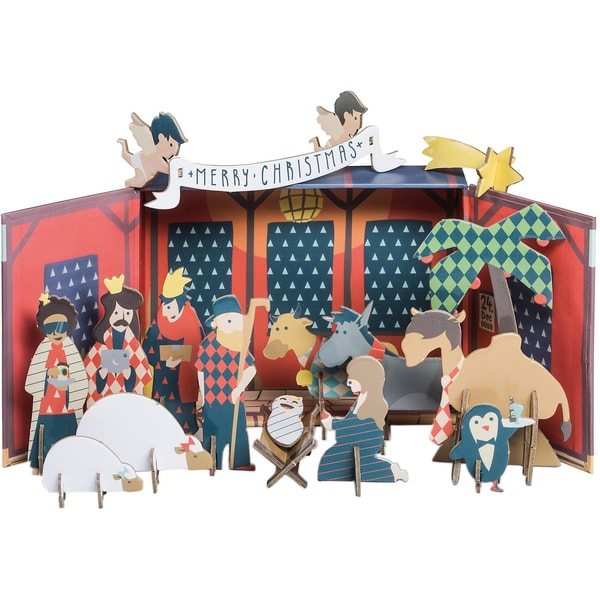 Donkey Products 37-teilig. Papp Krippe X-Mas Story In A Box