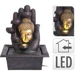 Koopman LED Zimmerbrunnen Buddha 30x24x40cm