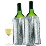 Vacu Vin 2er-Set Kühlmanschetten Weinkühler Silber