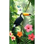 """good morning BEDLINENS Strandtuch """"Rainforest"""" 100x180 cm"""