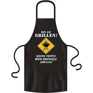 Rahmenlos Grill- Küchenschürze bin am Grillen