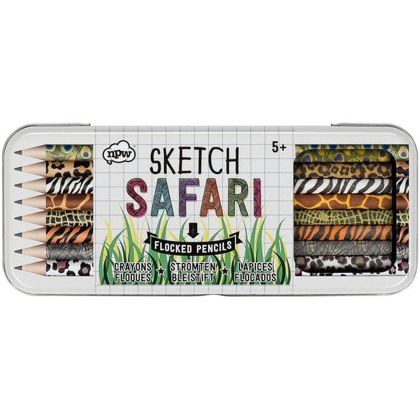 8-tlg- Bleistift Set Safari Blechdose