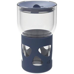 LEONARDO Glas Coffee-to-go Becher doppelwandig mit Silikonmantel 470 ml