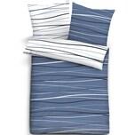 Castell Baumwoll-Seersucker Bettwäsche mit Reißverschluss 135x200 80x80