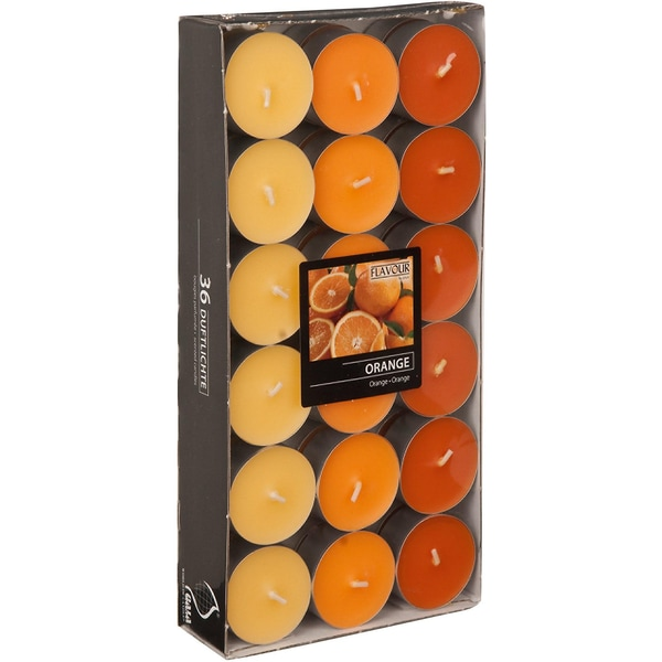 Gala 36er-Set Teelichter Orange