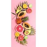 """good morning BEDLINENS Strandtuch """"Pink Fruits"""" 75x150 cm"""