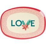 rice Melamin Servier-Teller LOVE 30x22cm