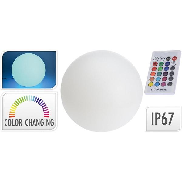 Leuchtkugel inkl. Fernbedienung farbwechselnd 12 LEDs Ø30cm Akku