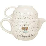 MEA LIVING Teekanne und Tasse mit Golddruck Schön dass es dich gibt!