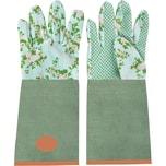 Esschert Design 2er-Set Gartenhandschuhe Lang Rosen Jute