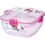 sistema Lunchbox für Salat To Go mit Einsätzen für Toppings Dressing Besteck