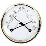 Thermo-Hygrometer goldfarben/weiß