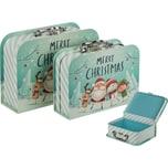2-tlg. Set Geschenkboxen Adventskoffer in 2 Größen