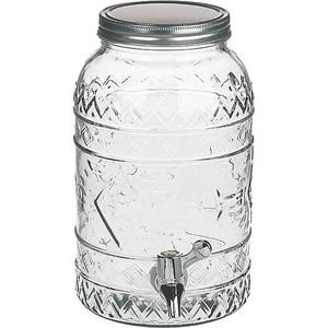 Getränkespender Aus Glas Tiki Style 35 Liter H26 cm
