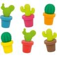 6-Tlg. Set Glasmarkierer Kaktus
