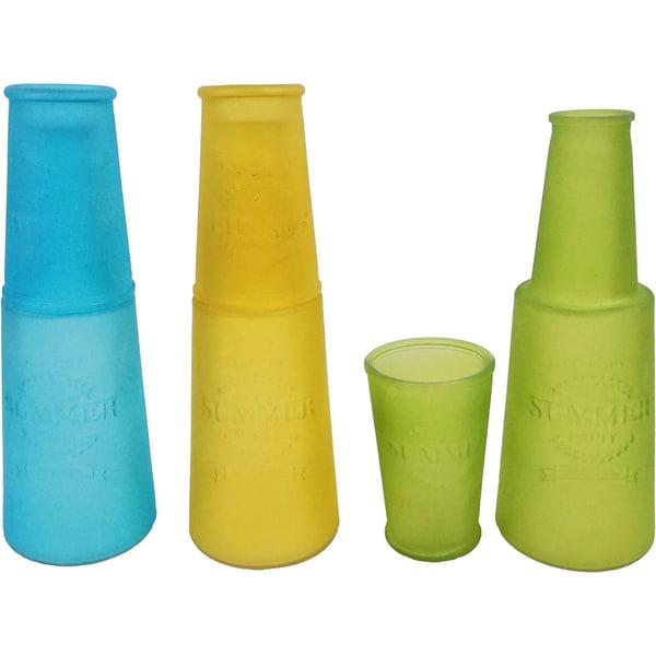 6-Tlg. Set Karaffen Glas Sommer 9X26 cm 75X12 cm