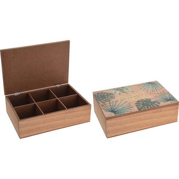 Teebox mit 6 Fächern