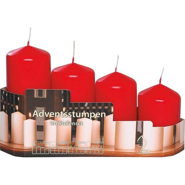 Gala 4-tlg. Set Adventskerzen Ø5 cm
